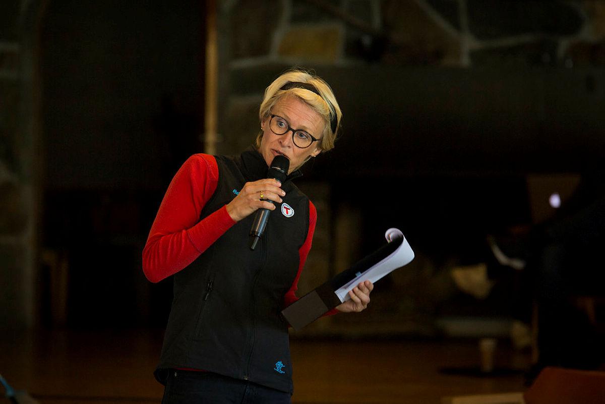 Helene Ødven, ordstyrer og daglig leder i Bergen og Hordaland Turlag.