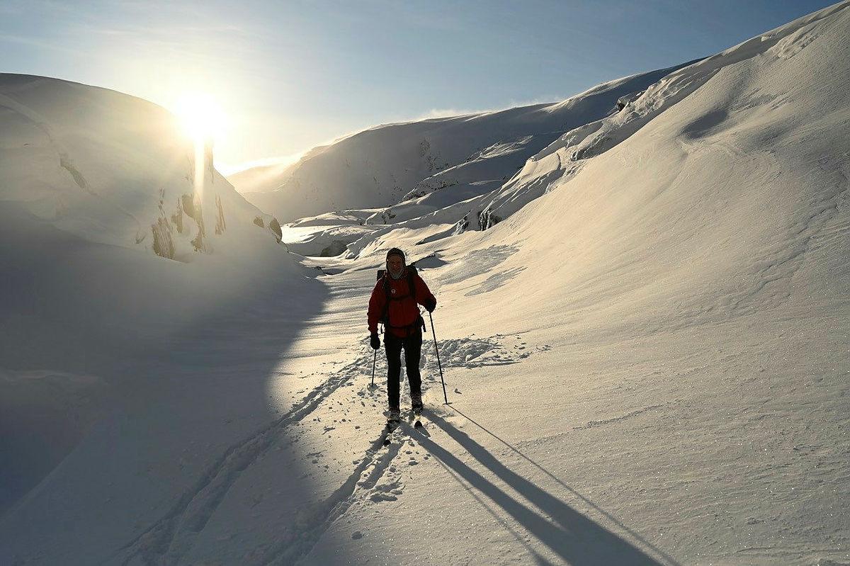 Flott vintervêr på Kaldavass