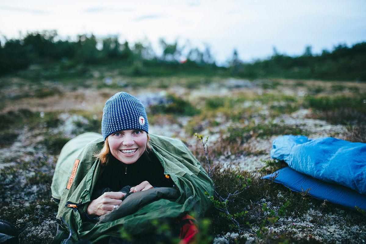 Overnatting uten telt er mulig.