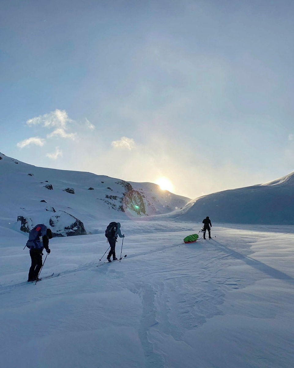 Skitur fra Haukeliseter til Holmavatn