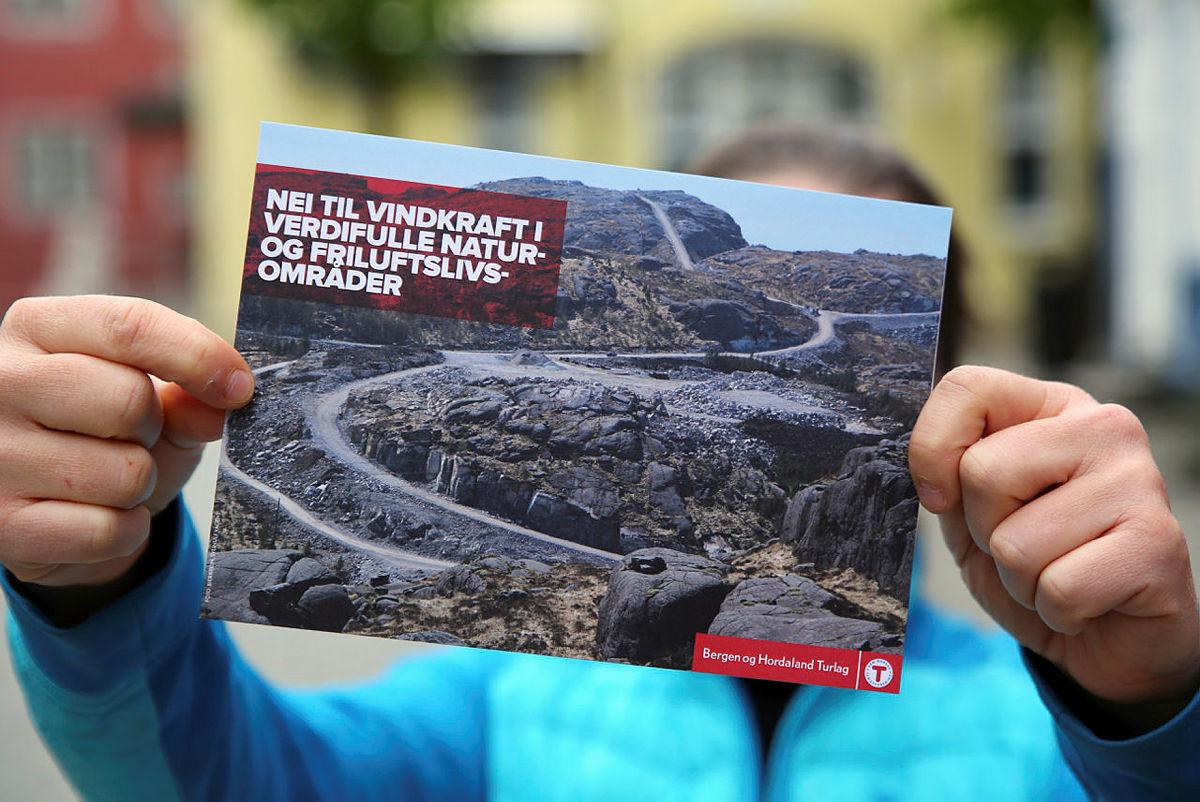 Vindkraftbrosjyre laget i forbindelse med støttemarsjene 12. mai 2019.