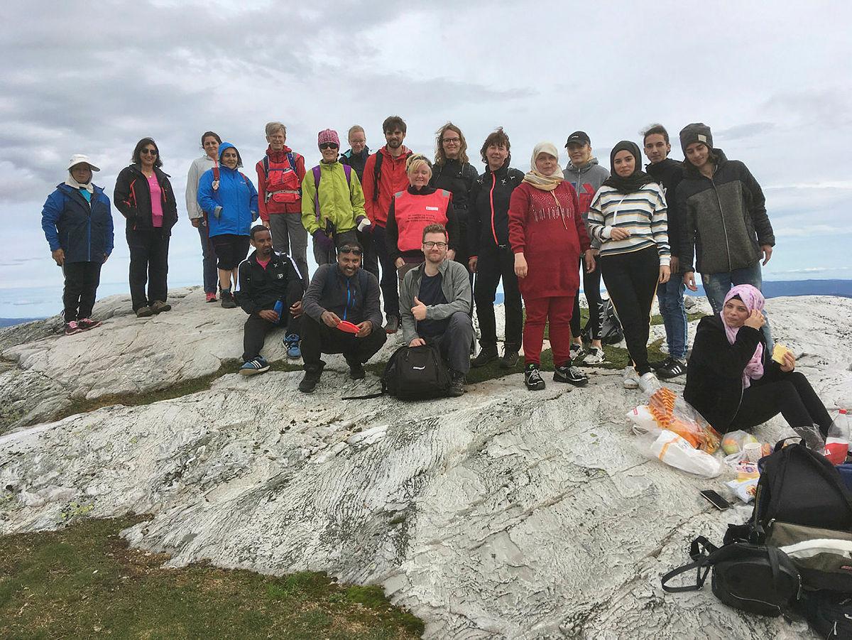 På toppen av Gleksefjell på Lifjell.