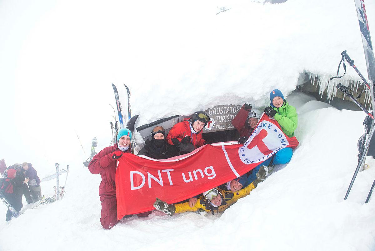 Topptur til Gaustatoppen med DNT ung under landsmøtet i 2014.