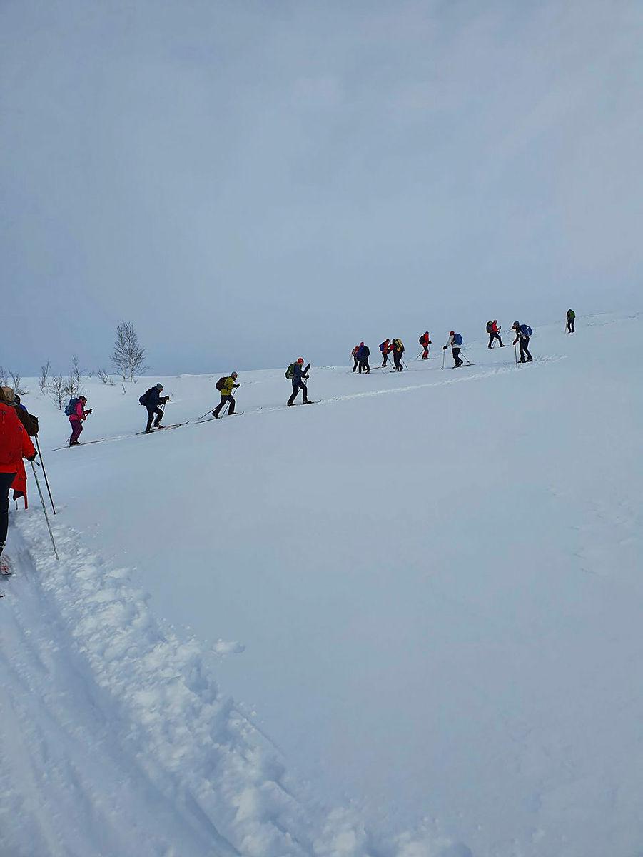 Bilete frå skitur til Fyrjaskaret, 19. januar 2020.