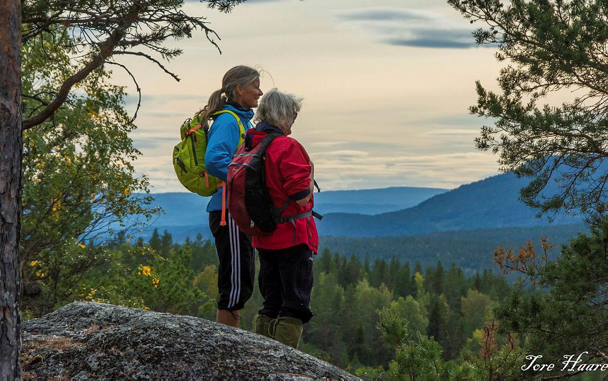 Turgruppa Ut på tur Eiker på Haugfosstien, Skuterudåsen i Modum