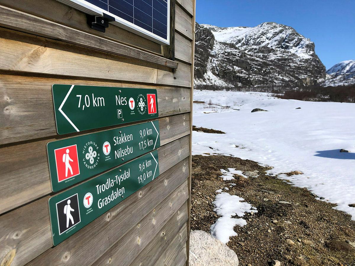 Den historiske vandreruta, Driftavegen, fra Viglesdalen forbi Stakken og videre til Nilsebu åpnet i fjor. Nye skilt  og infotavler viser deg vei.