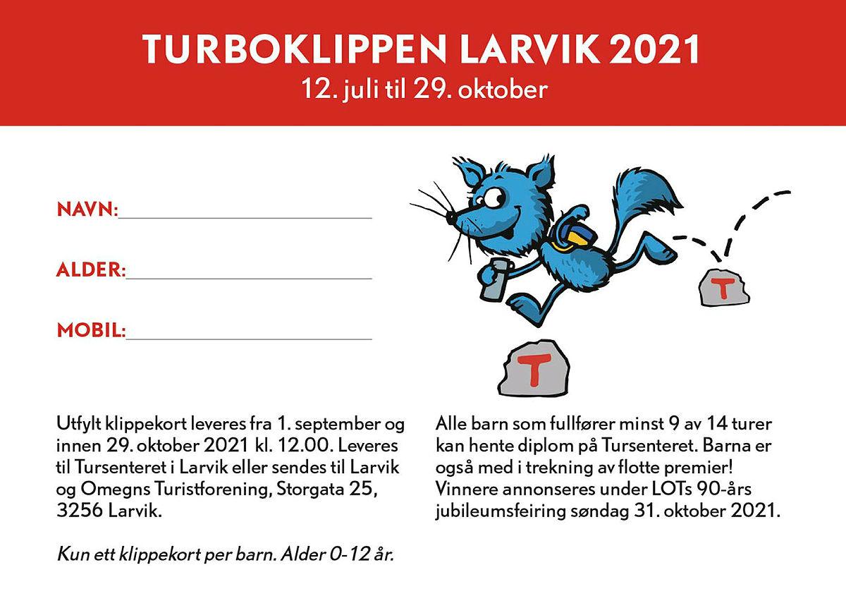 Turboklippen Larvik: 12. juli til 29. oktober
