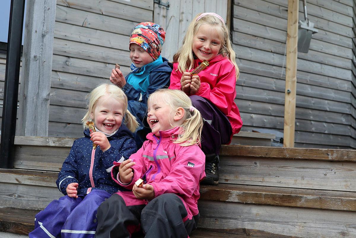 Jonstølen er et eldorado for barna, kort vei å gå og i flotte naturomgivelser i Suldal.