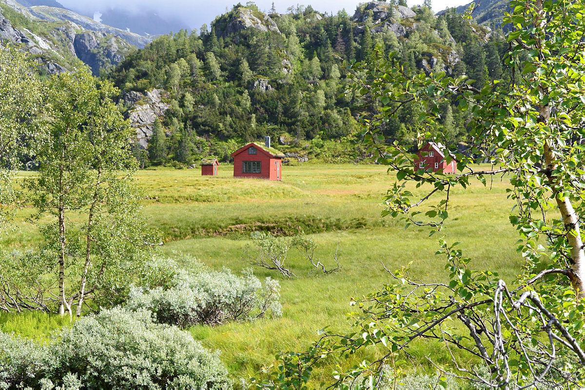 STØLSVOLL: Midt i én av de frodigste dalene i Ryfylke ligger den vesle hytta Kvanndalen.