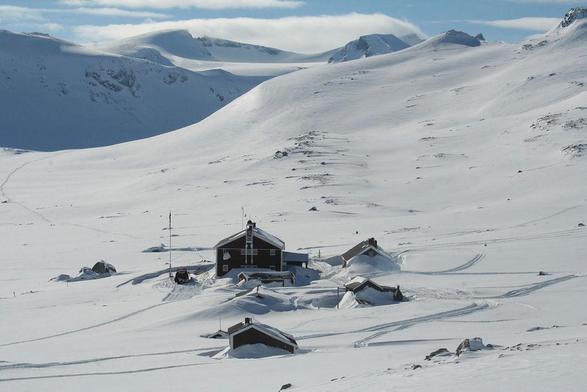 Glitterheim ligger perfekt til for gode skiturer.