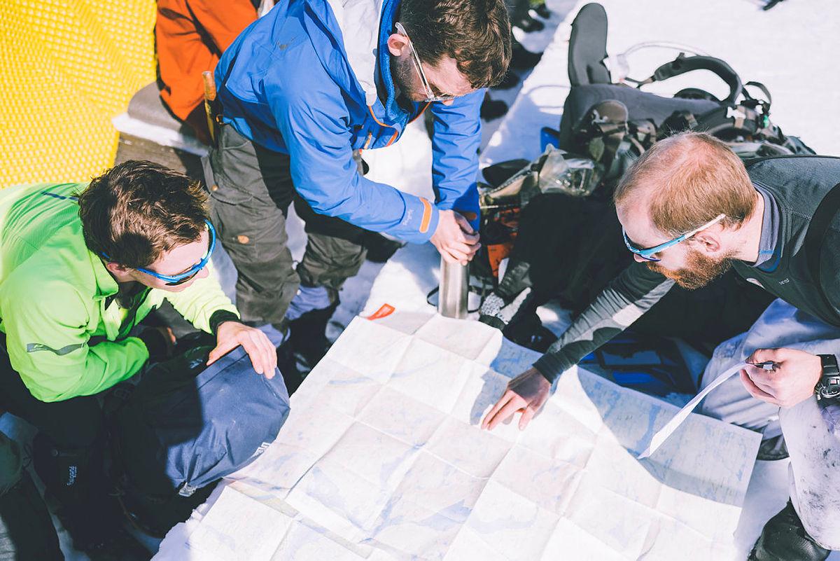 Første etappe av DNT Ungs fellestur på Sabotørruta.