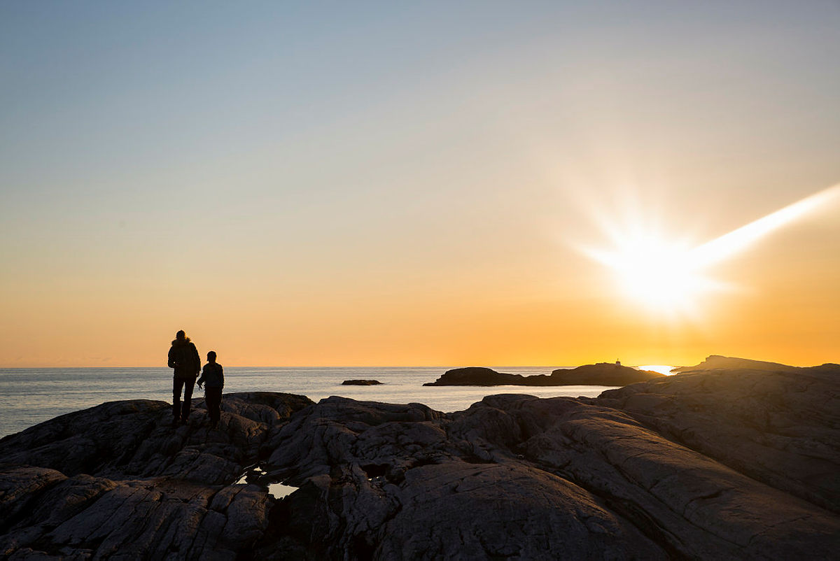Bekhilderen i Øygarden er et populært dagsturmål for mange.