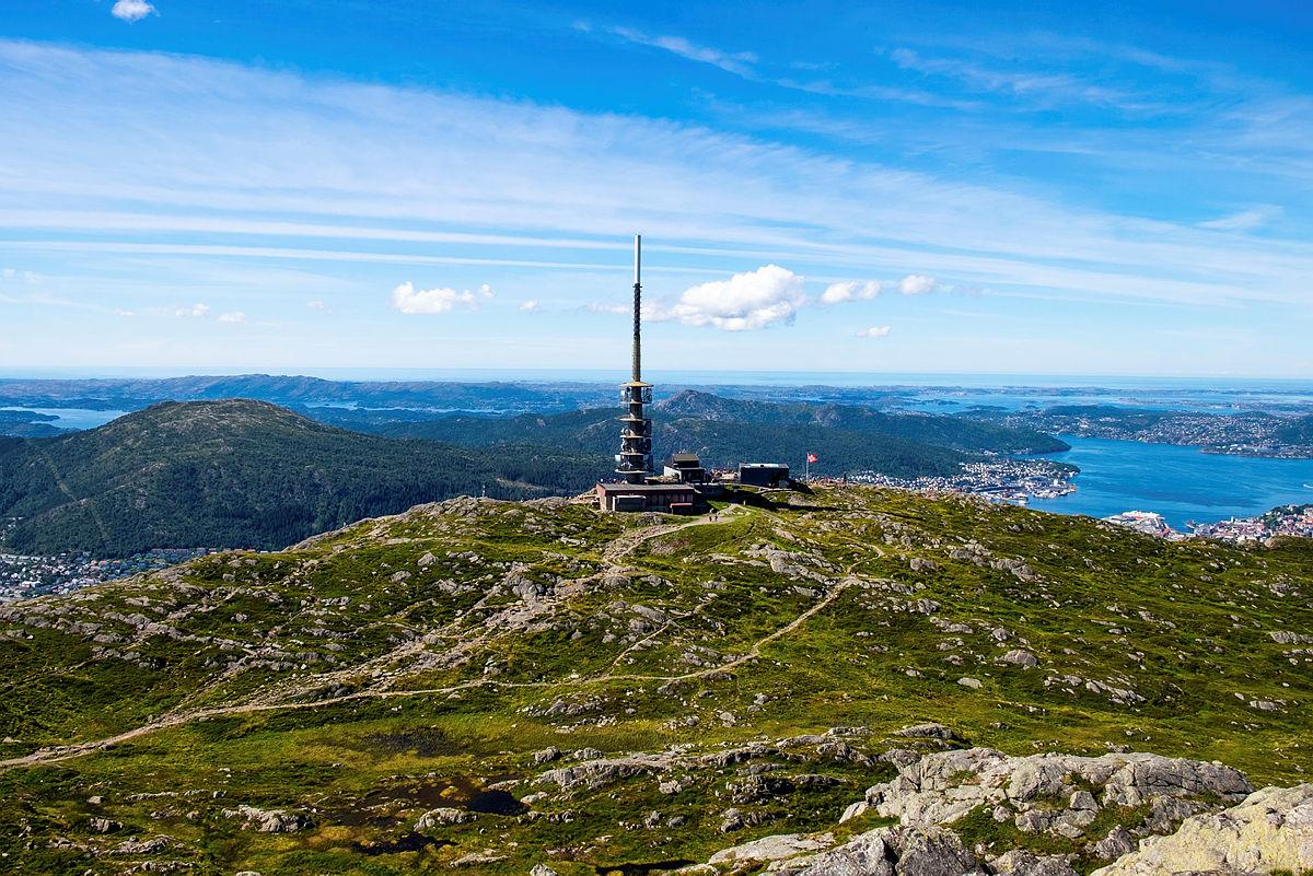 Tur til Ulriken fra Hjortland, 2020.