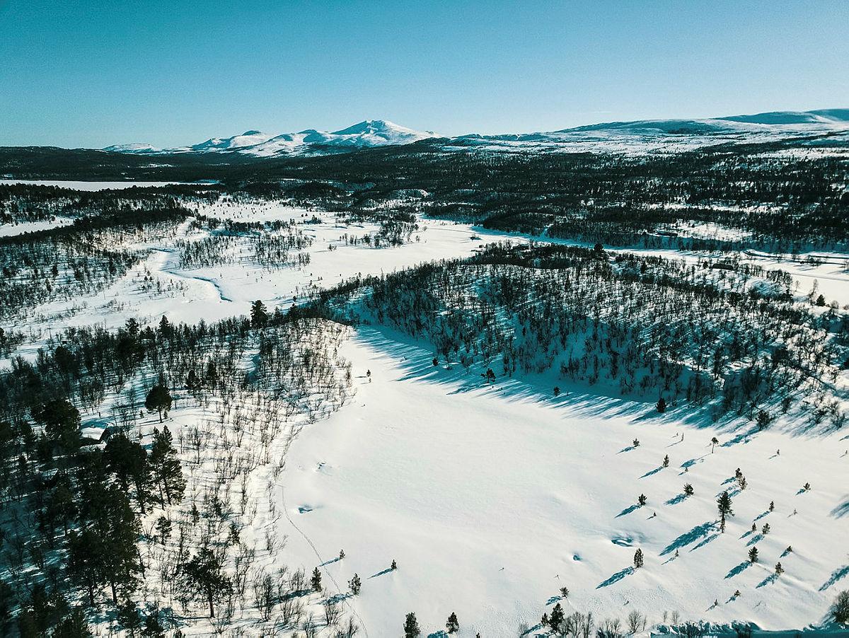 Bilder fra Femundsmarka og Svukuriset påska 2018.