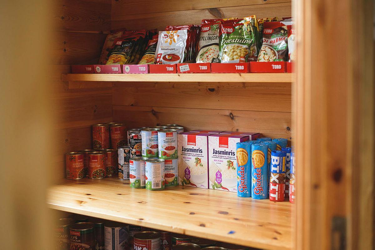 Velg gjerne en selvbetjent hytte så slipper du å bære alt av mat.