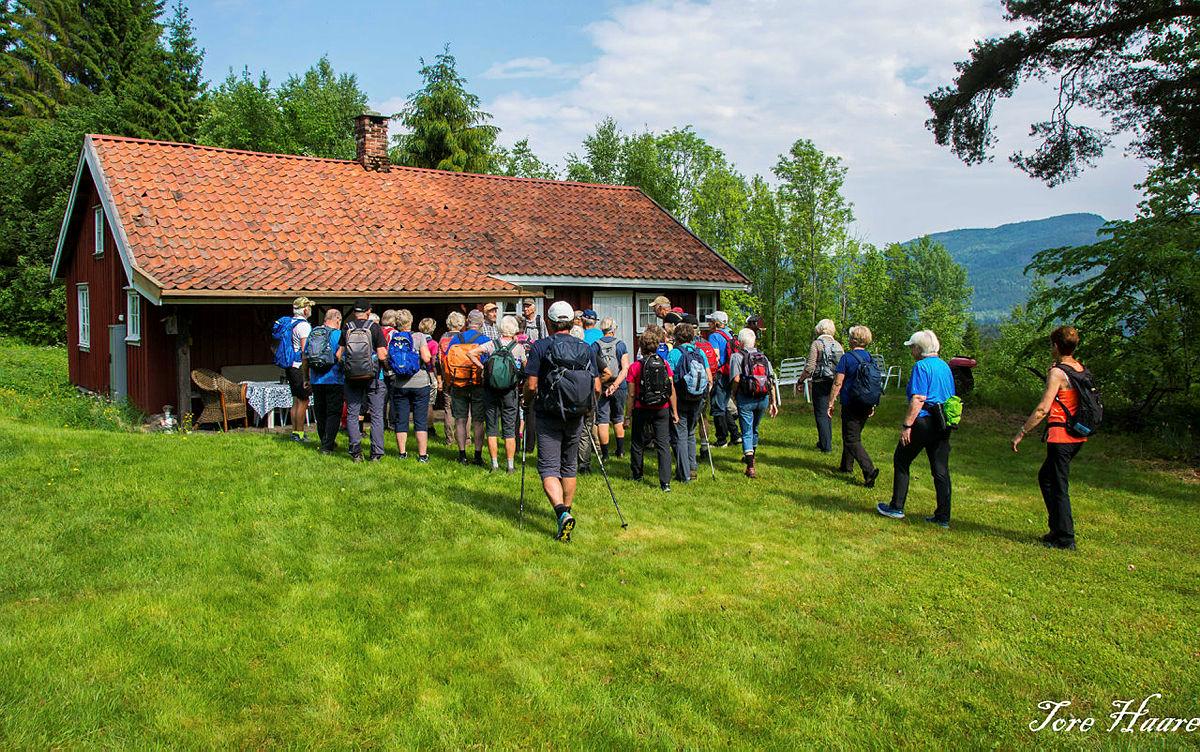 Turgruppa Ut på tur Eiker på Markensrud ved Eikeren