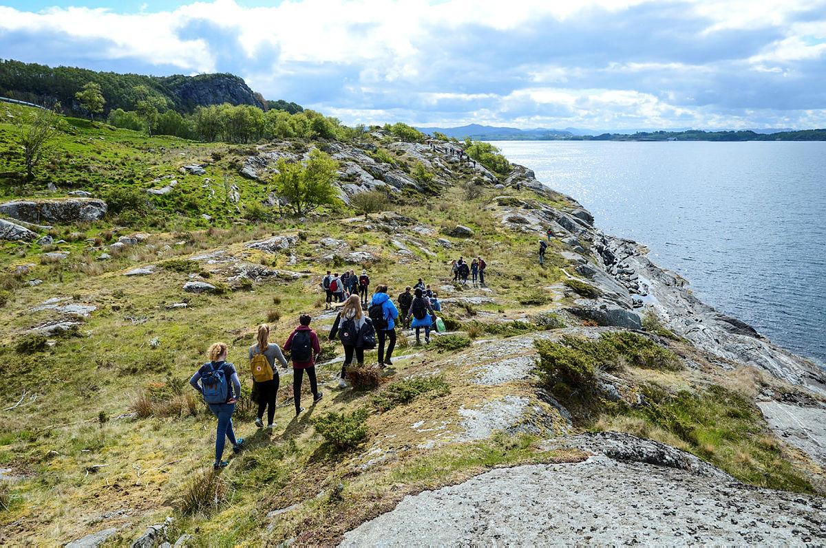 Opptur Rennesøy og Finnøy ved Kvitevika på Finnøy.