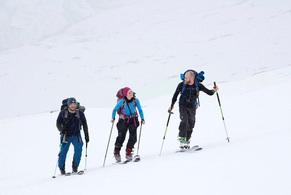 Topptur med fjellsportgruppa i Bergen og Hordaland Turlag ved Vatnahalsen i Hordaland.