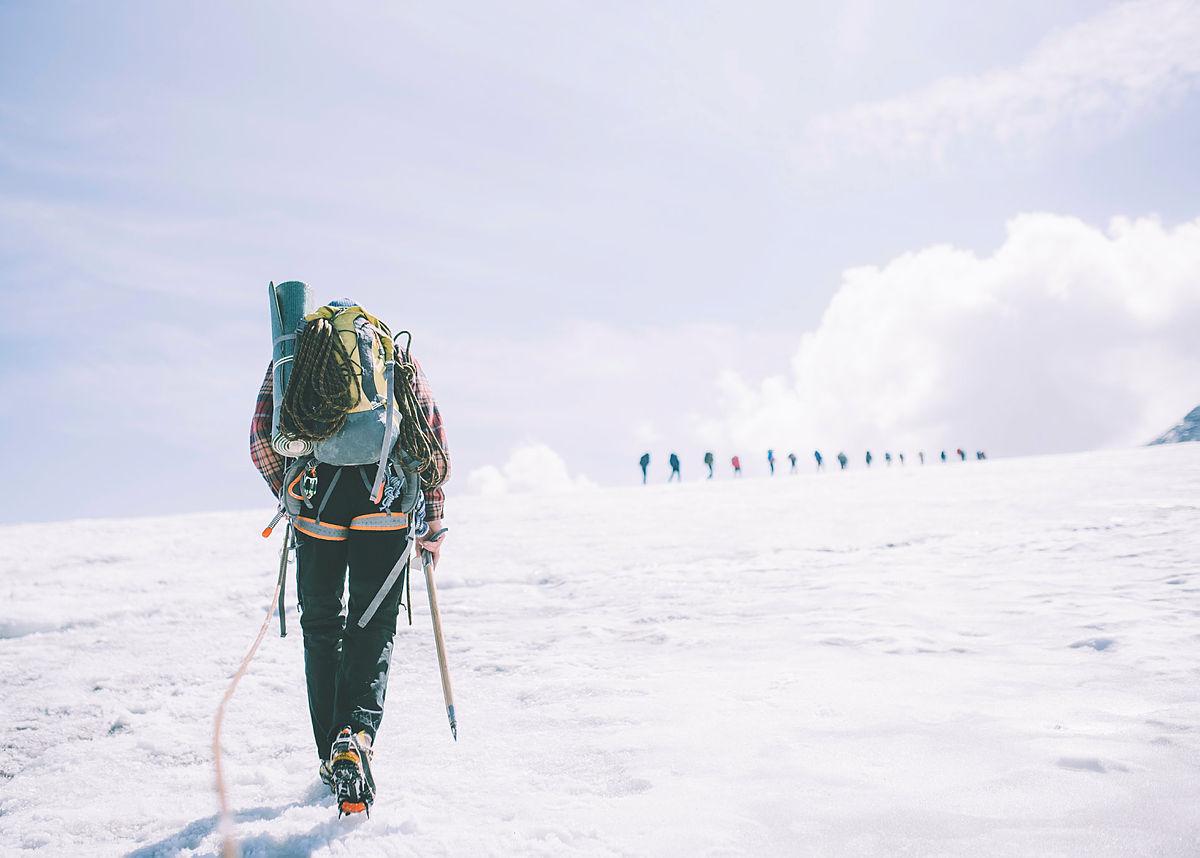 Andre uken av minutt for minutt gikk fem dager gjennom Jotunheimen. Bildet er tatt på vei over Fannaråkbreen.