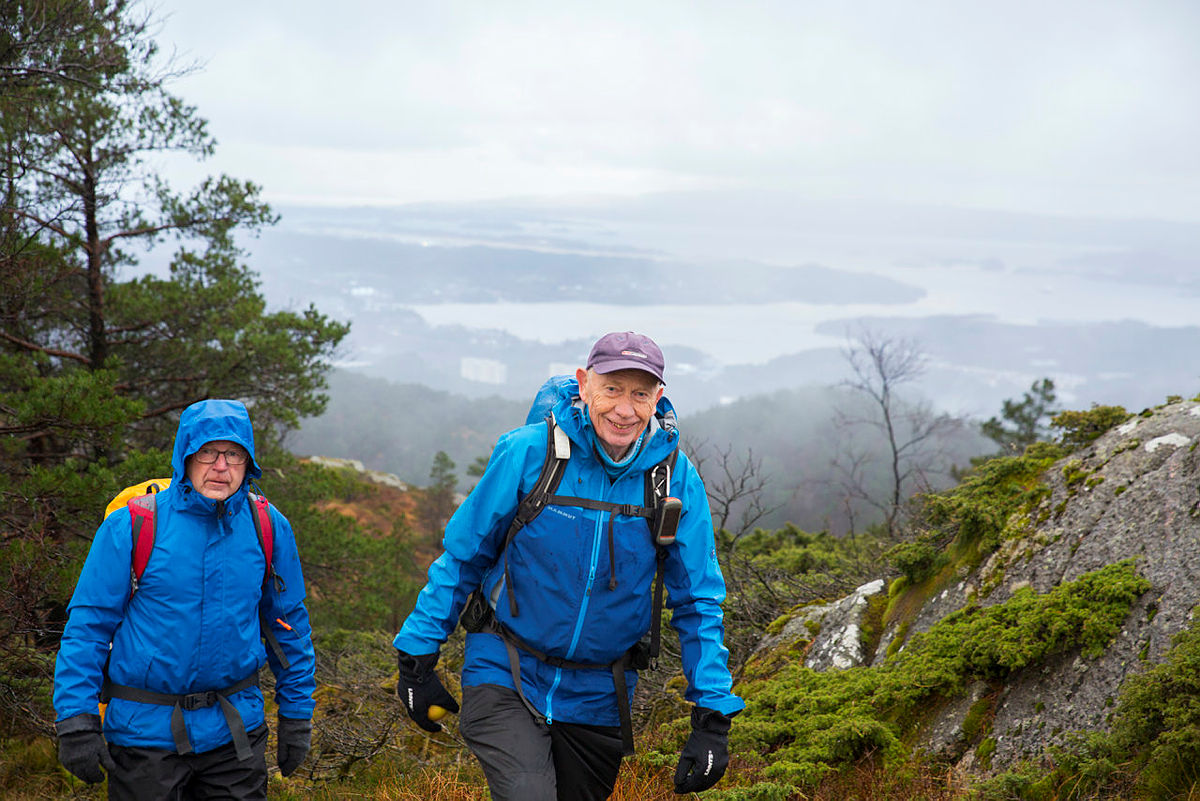 Turleder Jan Mathiesen var med å lede første turen etter sist nedstengning. – Det er godt å treffes igjen, sier han.