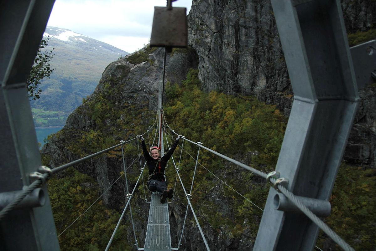 Via ferrata Loen, 19+. DNT ung Bergen