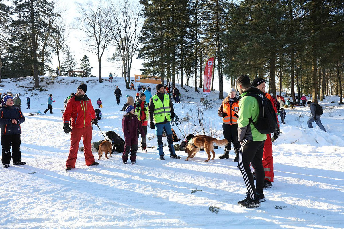 Kom deg ut-dagen på Fløysletten vinter 2019.