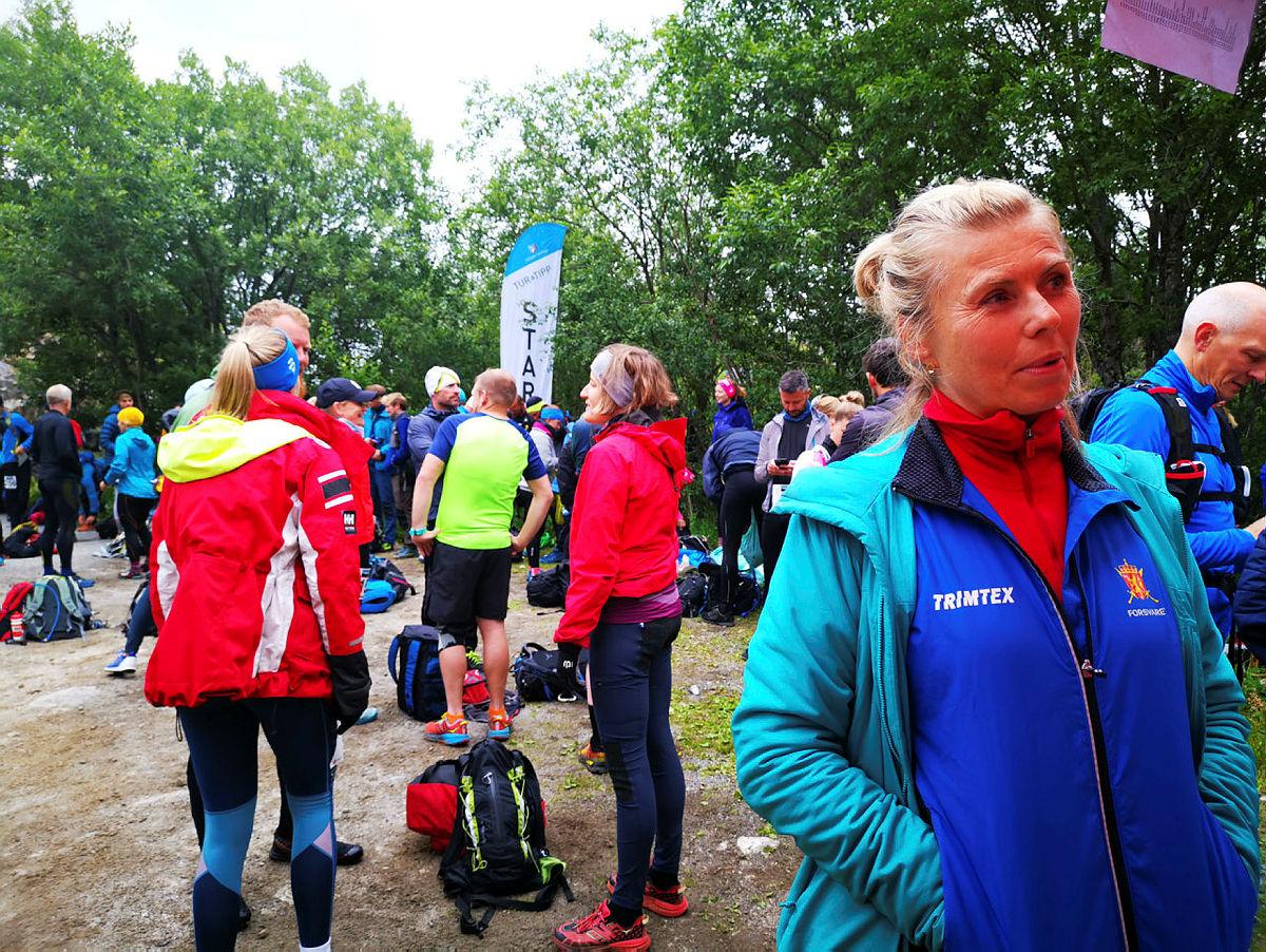 Aktivitet i start/målområde under fjellturløpet Børvasstindan Classic 6. juli 2019