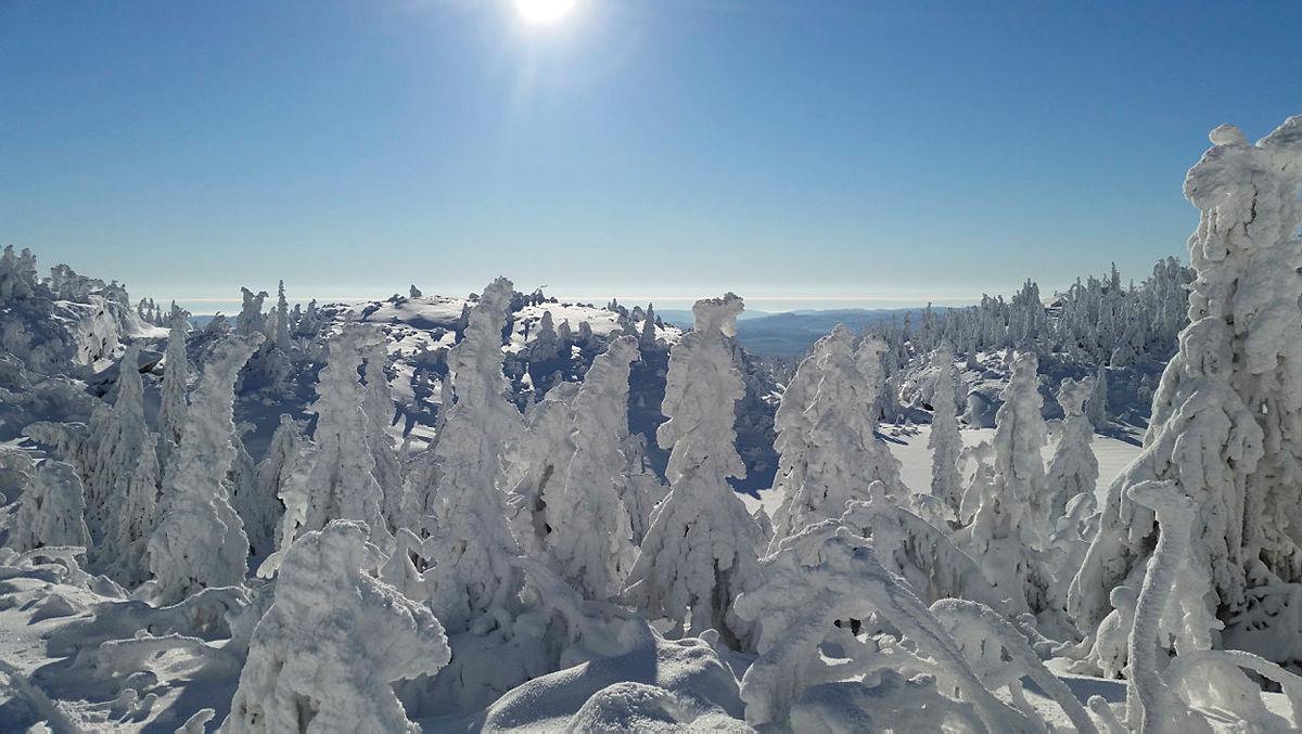 Vinterlandskap på Skrim