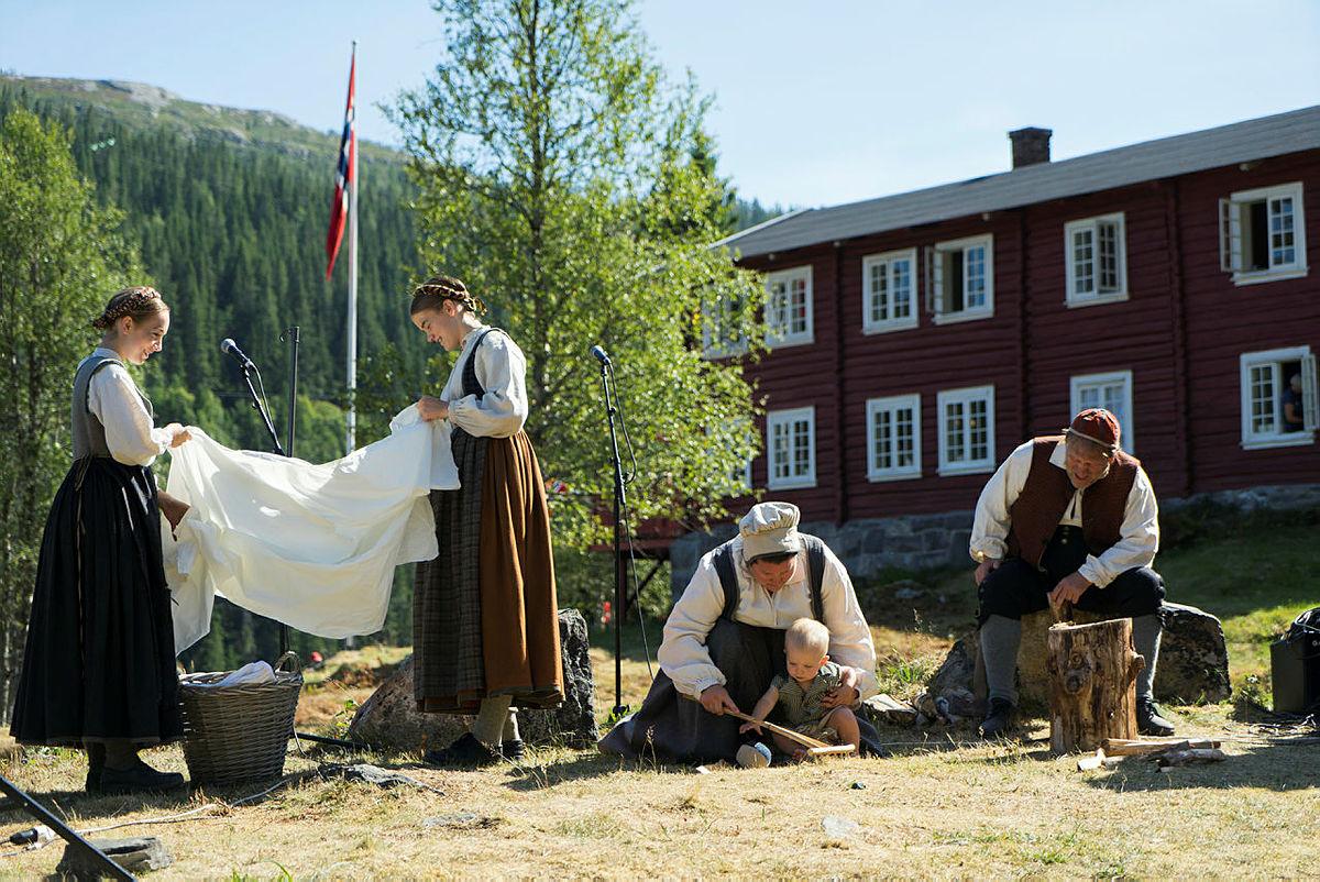 150-årsmarkering på Krokan, DNTs første hytte.