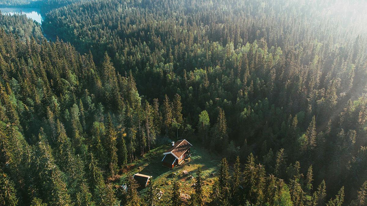 Bruk SjekkUT til å oppdage nye hytter som Sinnerdammen på Krokskogen