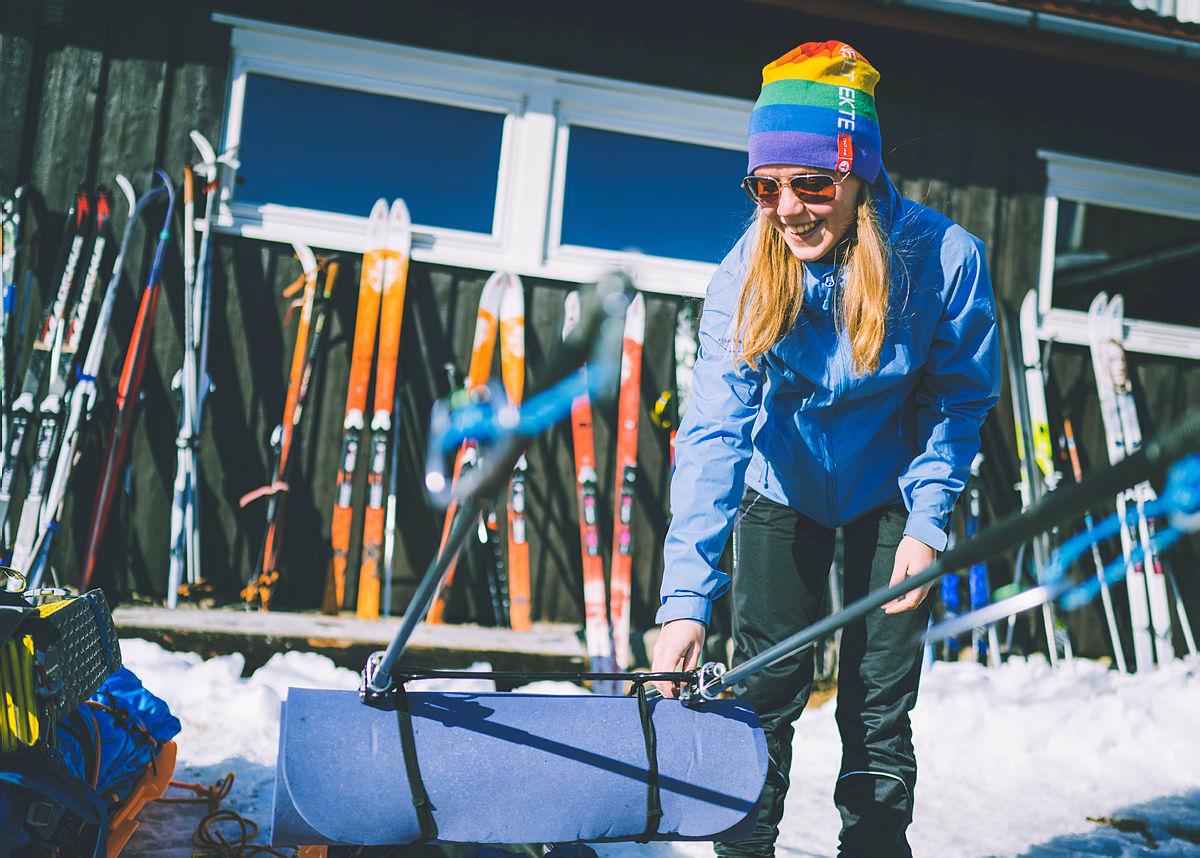 Amalie Fjellsøy (21) forbereder turen.