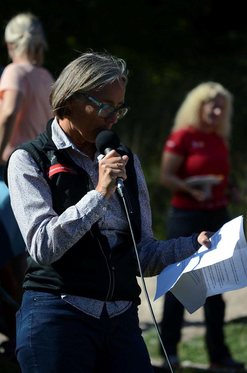 Styreleder Linda Verde under Kom deg ut-dagen september 2018