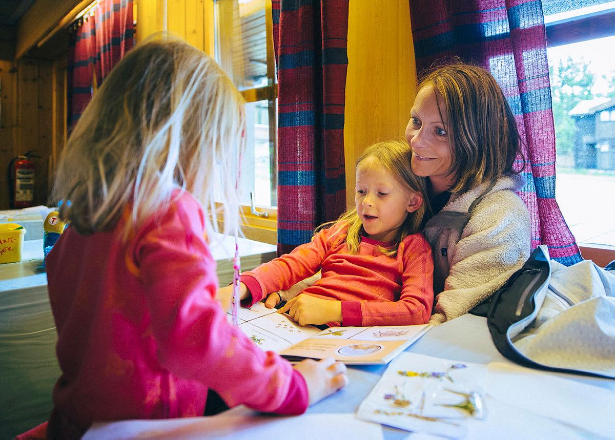 Barnas turlag med familicamp på Sota sæter i Juli 2015.