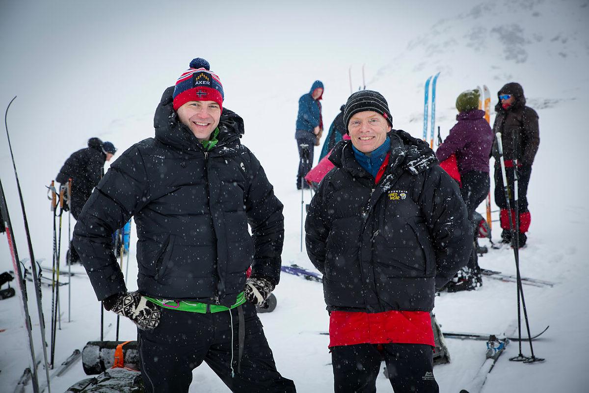 Per Olav Opheimshaug (t.v.) og Nils Bull, begge dyktige vinterturledere for Bergen og Hordaland Turlag.