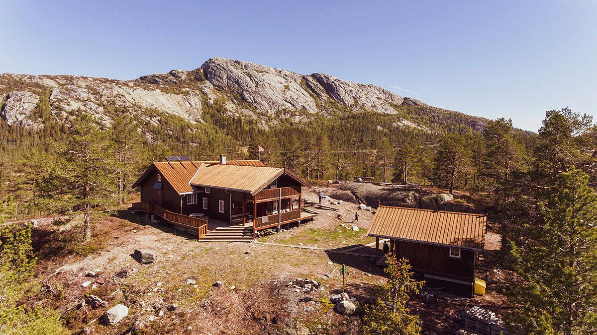 Himingsjå turisthytte på Lifjell, Telemark.