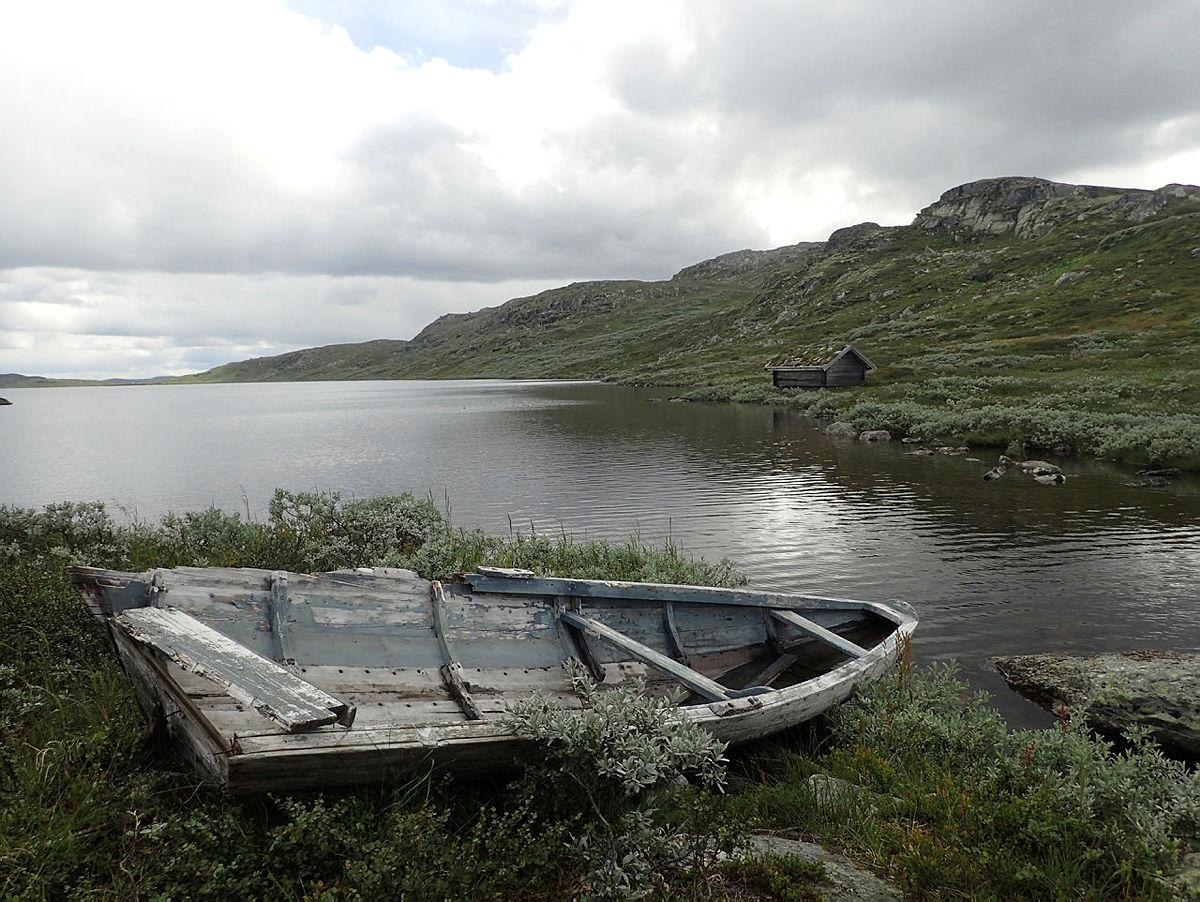 Gammel båt ved Reinsjøen
