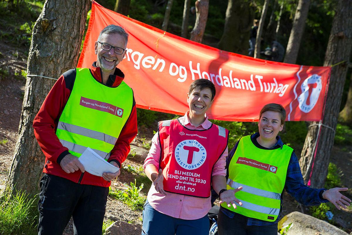 Turlederne Arve Løvenholdt, Tove Iren Vindenes og Marit Heitkøtter Lien.
