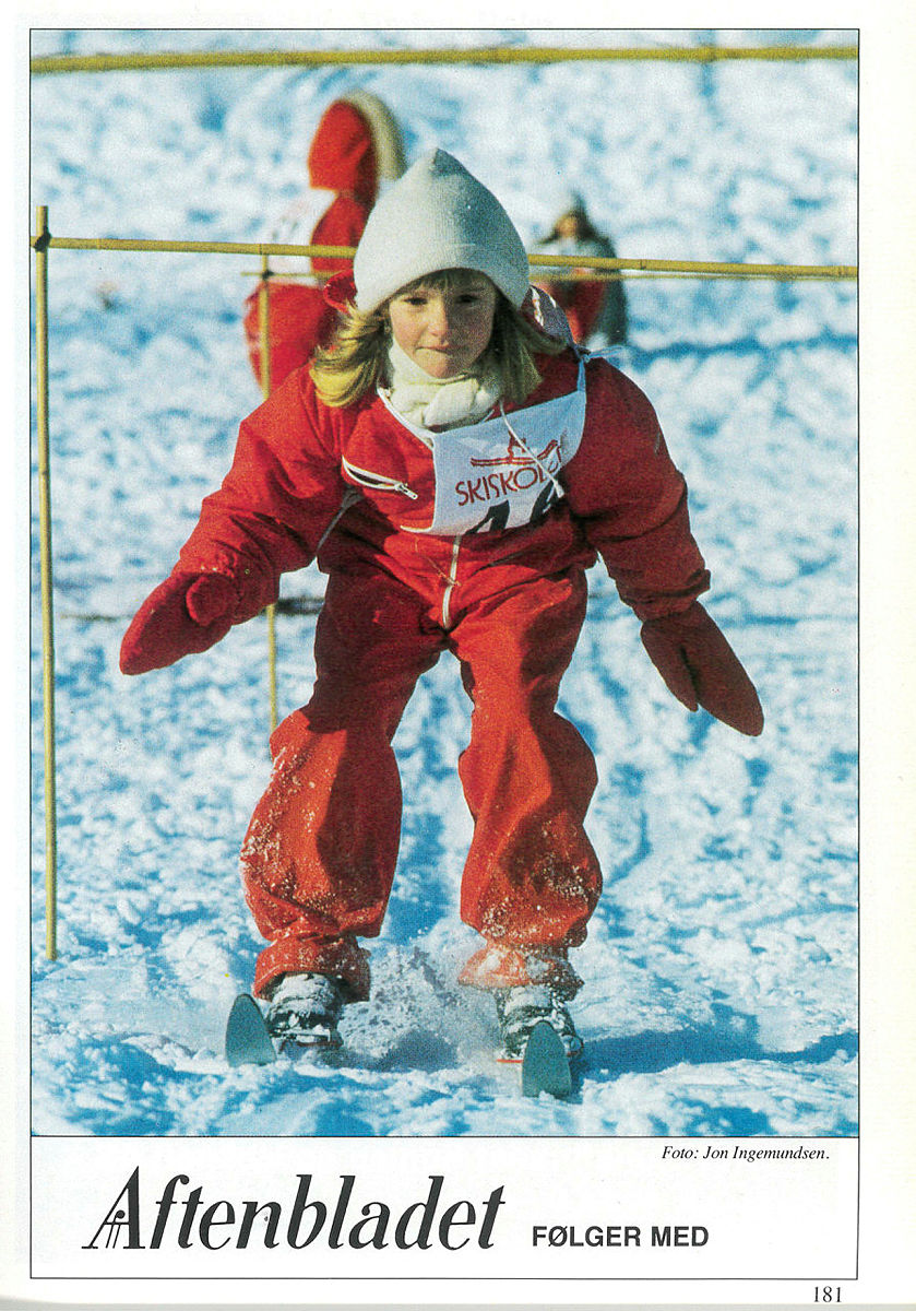 Skiskolen har en over 60 år lang historie. Dette bildet er fra 1987.