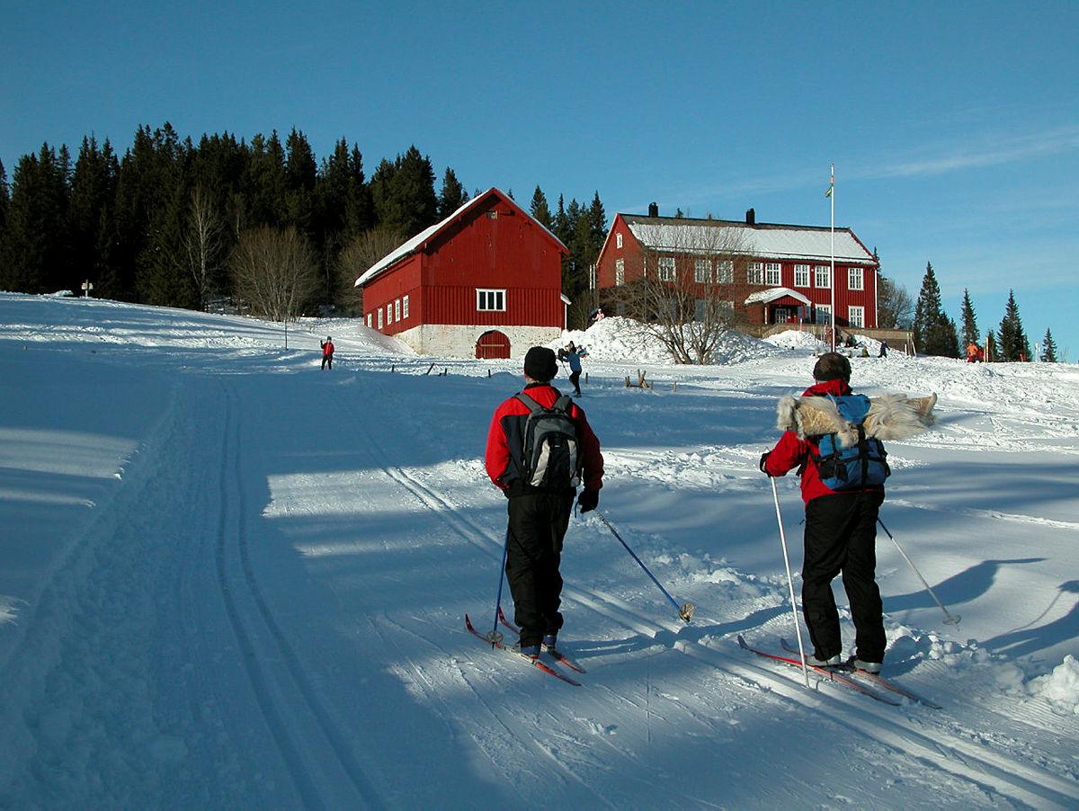 Det er fremdeles skiføre i bymarka i Trondheim.