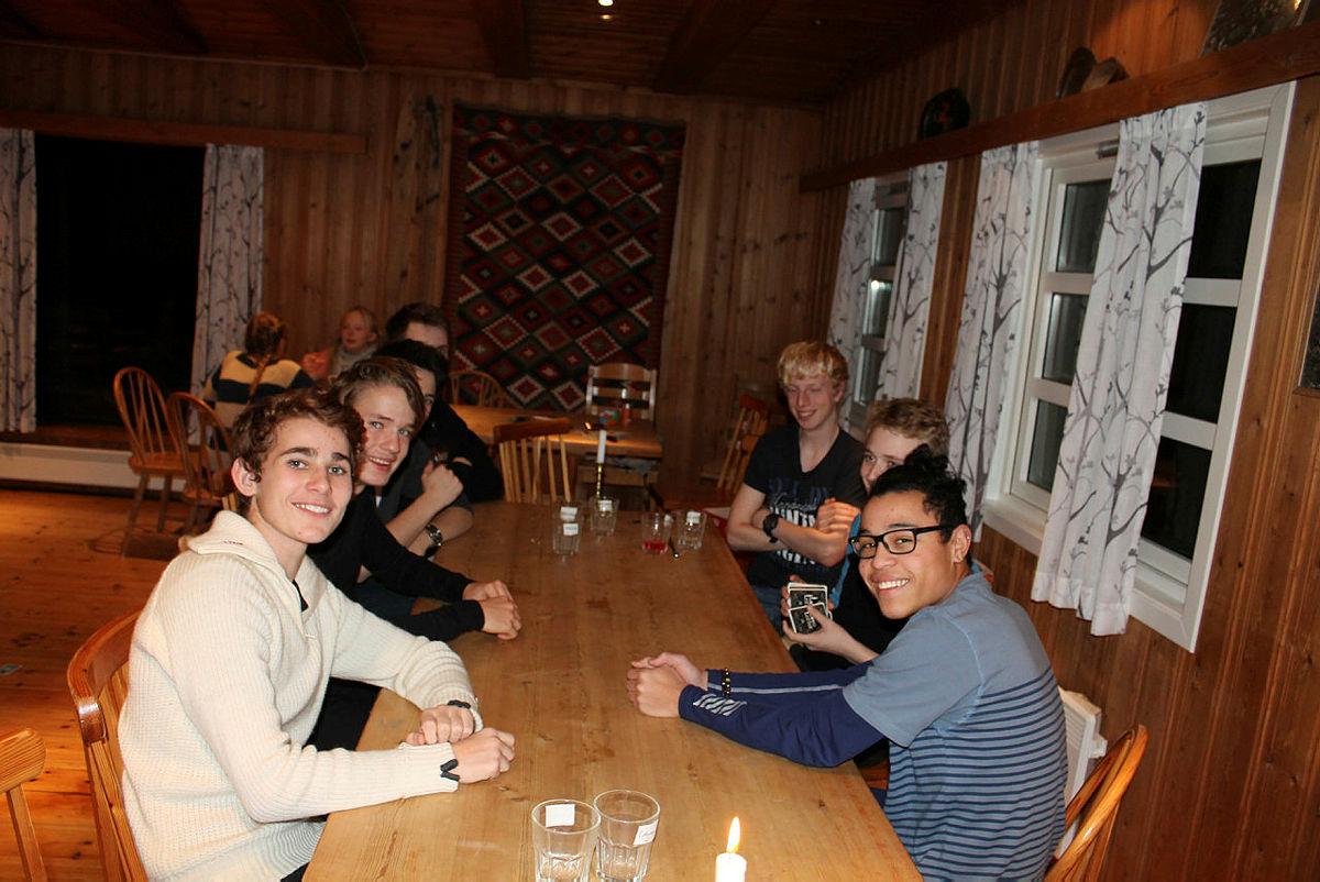 DNT ung Stavanger på hyttetur til Ådneramhytta.