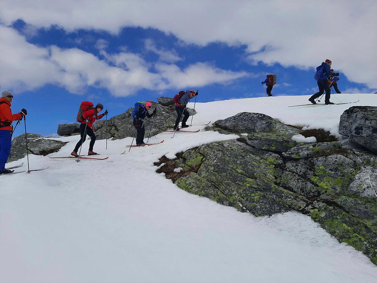 På veg opp mot siste topp: Urdeggi.