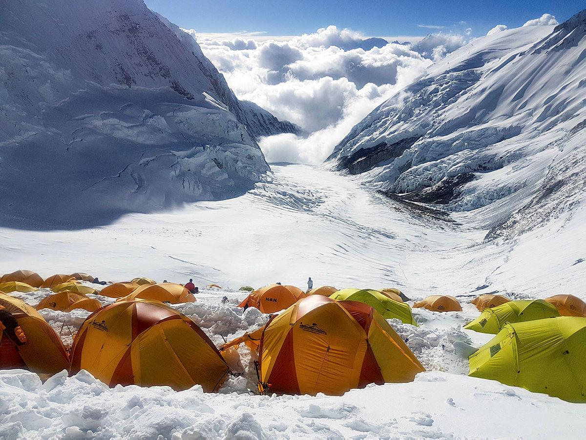 9.Utsikten fra camp 3 (ca. 7200 moh.) er fantastisk.