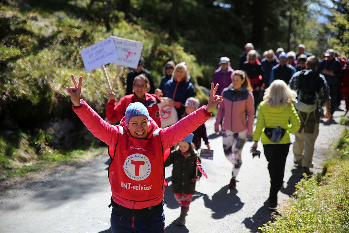 Hordaland med flest deltagere under støttemarsjene