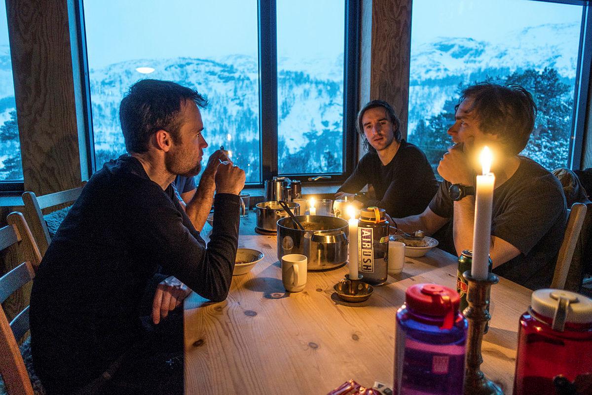 Flott utsikt fra middagsbordet på Jonstølen