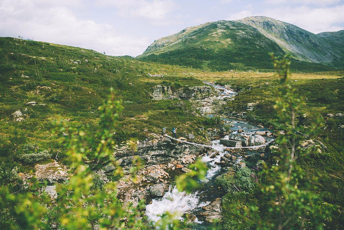 Andre uken av minutt for minutt gikk fem dager gjennom Jotunheimen. Bildet er fra Jotunheimens siste etappe ned mot Vetti Gard. Startpunkt var i Fleskedalen.
