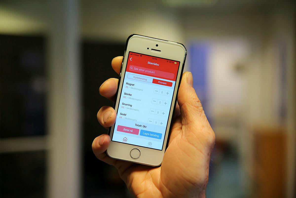 Betal hytteoppholdet med mobilen