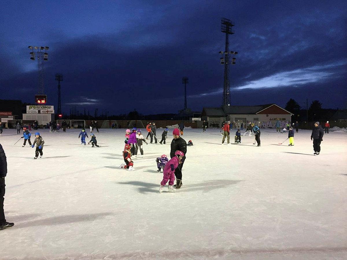 Skøytebane på Sarpsborg stadion