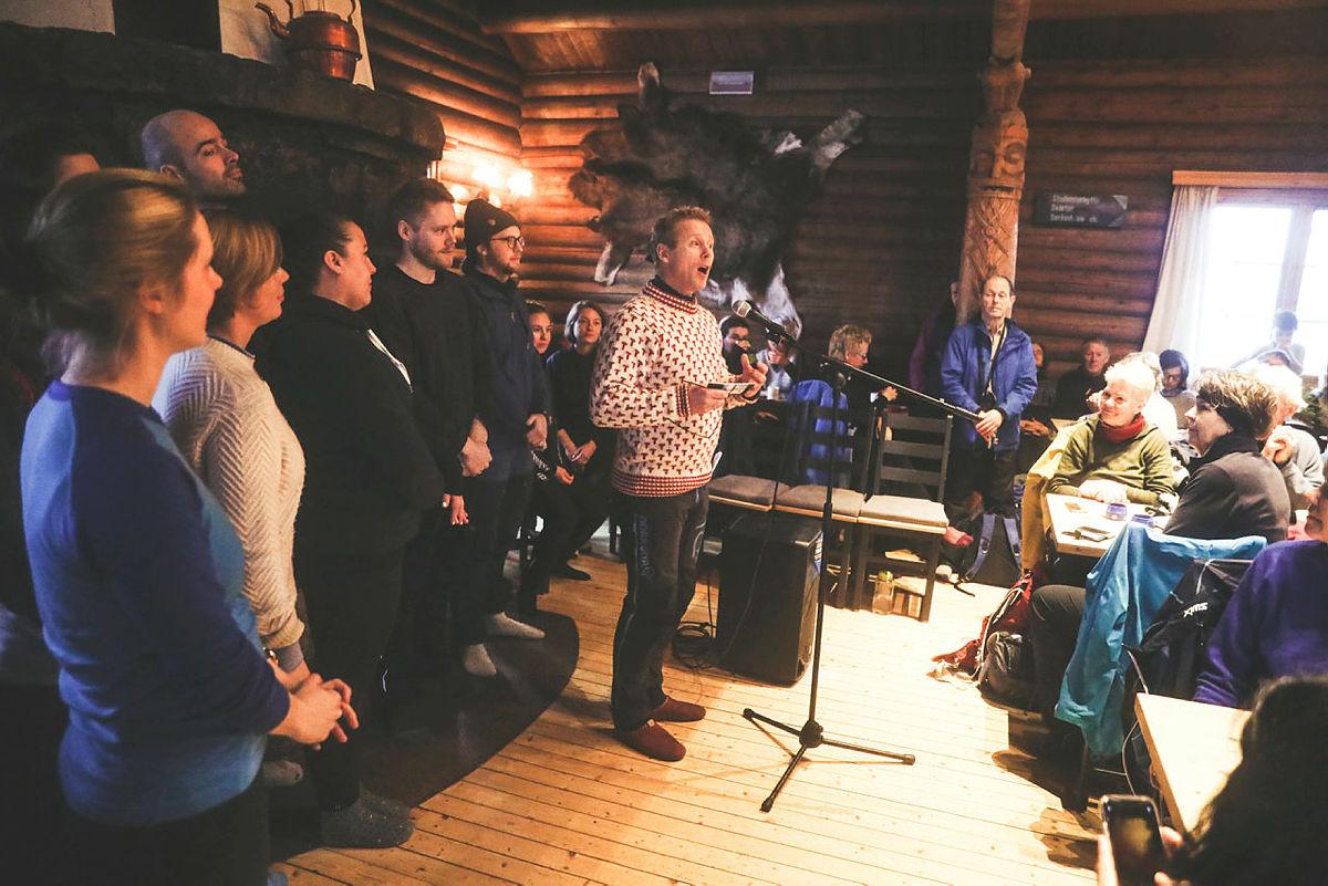 Bilder fra gjenåpningen av Kobberhaughytta, 11. januar 2020.