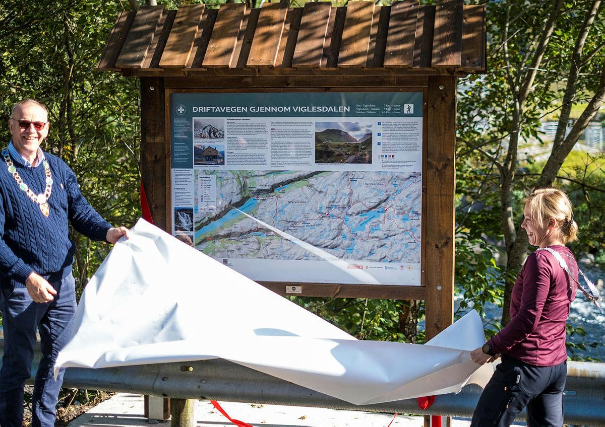I fjor åpnet den historiske vandreruta, Driftavegen, som starter fra Nes og videre inn til Viglesdalen.