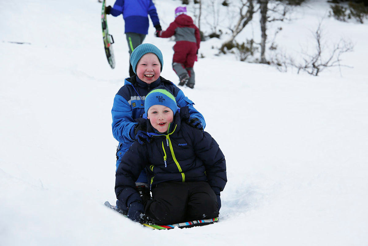 Vinterferie på Alexander Grieghytten i Bergsdalen, vinter 2017.